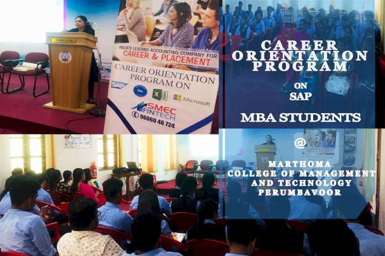 SAP career orientation class for MBA students @ Marthoma College of Management and Technology (MCMAT) by SAP Global Certified Consultant