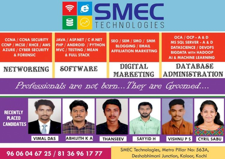 SMEC Technologies - Recently placed candidates