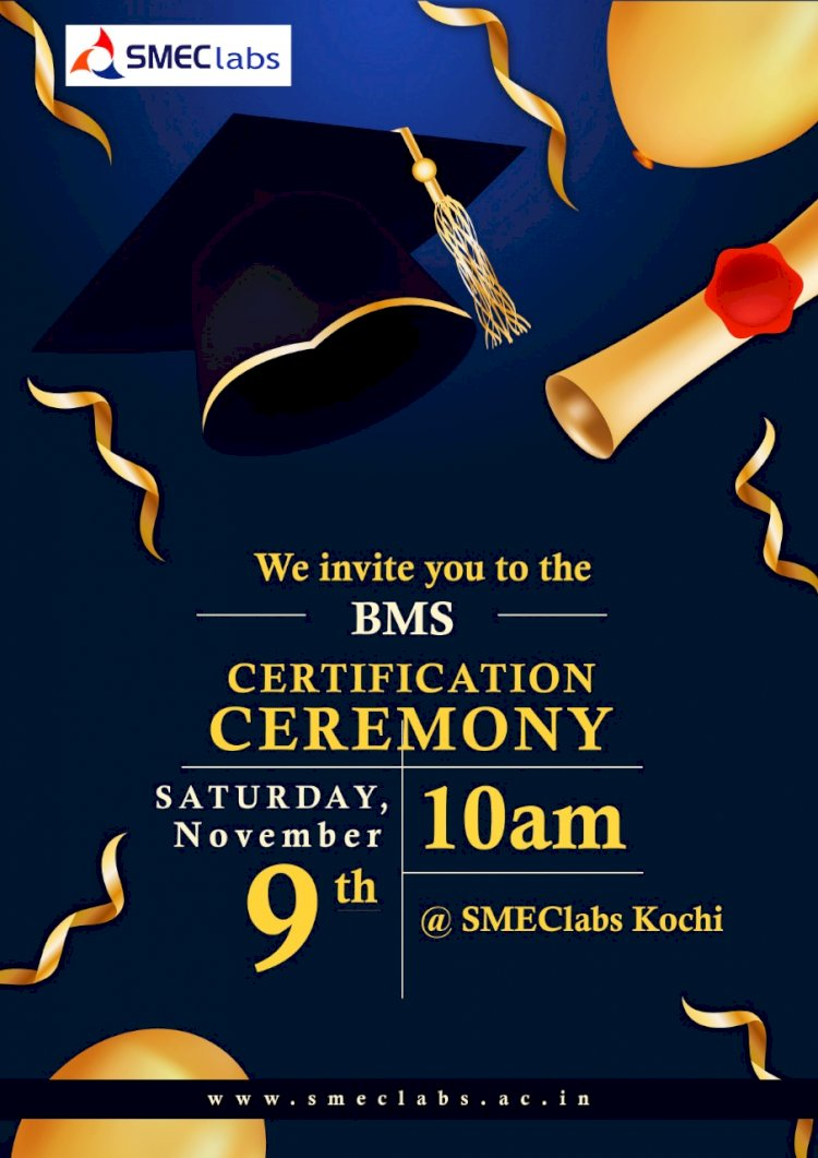 SMEClabs BMS Certification Ceremony
