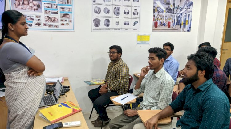 INDUSTRIAL VISIT FROM AMS COLLEGE,CHENNAI