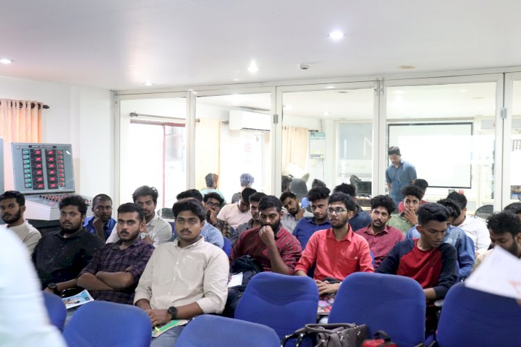 Students from Adi Shankara Institute of Engineering and Technology attending the 5 day Workshop on Instrumentation and Control System