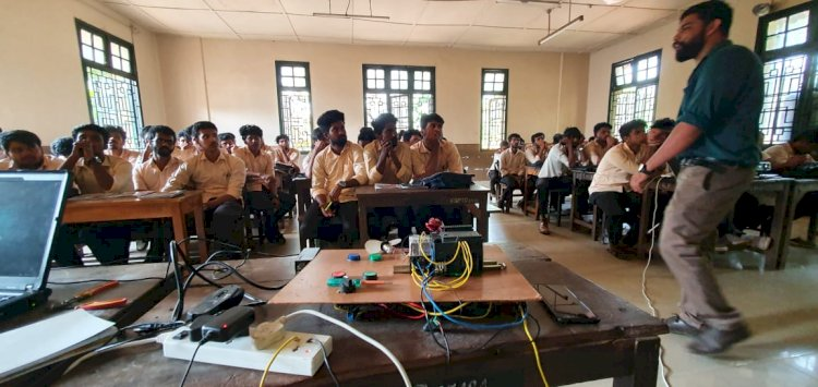 Workshop on Automation for Tool and dye students in Kerala Government Polytechnic College,Kozikode