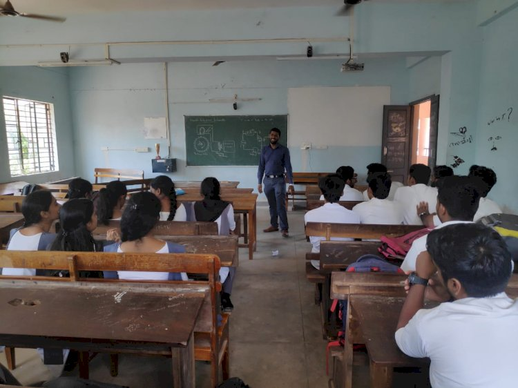 Seminar for MSC Electronics and Communication System Students at Nehru Arts and Science College